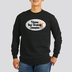 Filipino Beer Champ Long Sleeve Dark T-Shirt