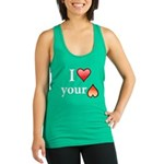 I Love Your Butt Racerback Tank Top