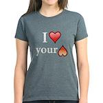 I Love Your Butt Women's Dark T-Shirt