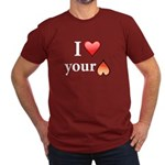 I Love Your Butt Men's Fitted T-Shirt (dark)