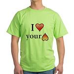 I Love Your Butt Green T-Shirt