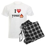 I Love Your Butt Men's Light Pajamas