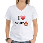 I Love Your Butt Women's V-Neck T-Shirt