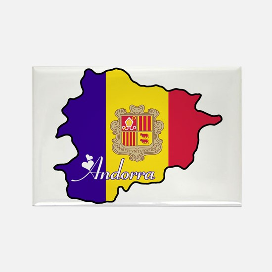 Cool Andorra Rectangle Magnet