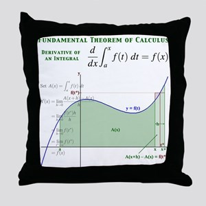 Fundamental Theorem of Calculus Throw Pillow
