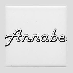 Annabel Classic Retro Name Design Tile Coaster