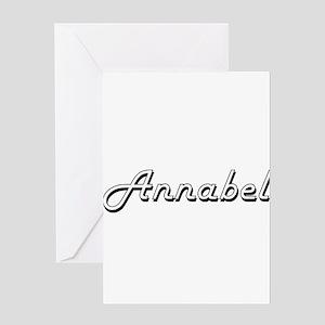 Annabel Classic Retro Name Design Greeting Cards