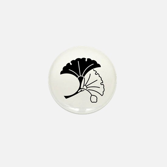 Yin & yang ginkgo leaves Mini Button