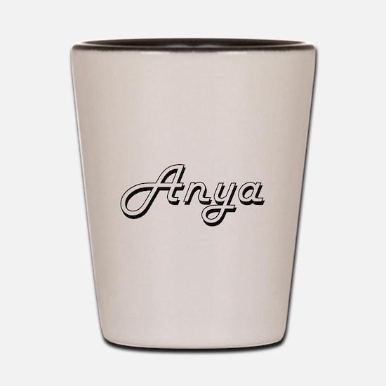 Anya Classic Retro Name Design Shot Glass
