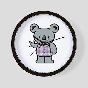 Koala with an ASL message Wall Clock