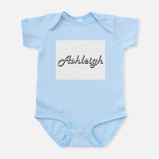 Ashleigh Classic Retro Name Design Body Suit