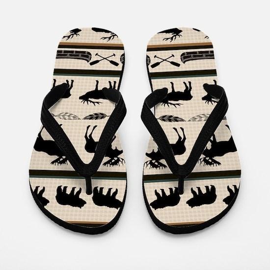 Unique Elk Flip Flops