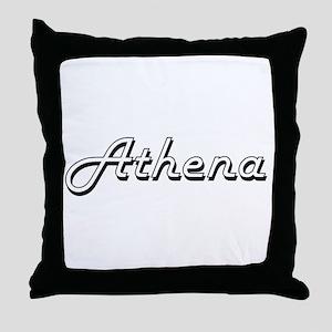 Athena Classic Retro Name Design Throw Pillow