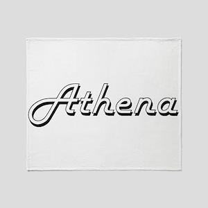 Athena Classic Retro Name Design Throw Blanket