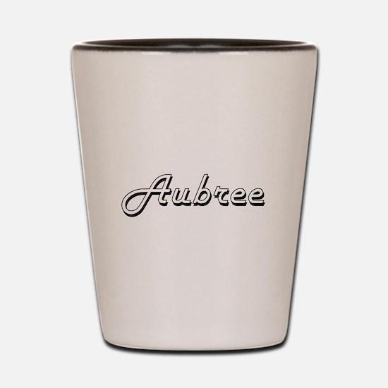 Aubree Classic Retro Name Design Shot Glass