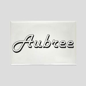 Aubree Classic Retro Name Design Magnets