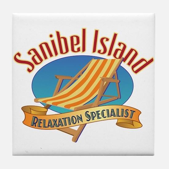 Sanibel Island Relax - Tile Coaster