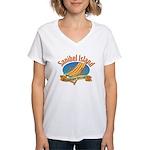Sanibel Island Relax - Women's V-Neck T-Shirt