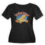 Sanibel Women's Plus Size Scoop Neck Dark T-Shirt