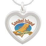 Sanibel Island Relax - Silver Heart Necklace