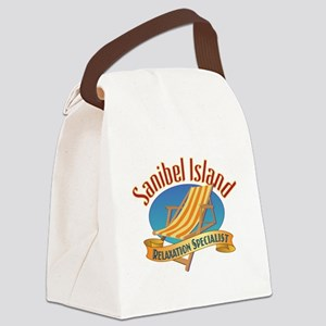 Sanibel Island Relax - Canvas Lunch Bag