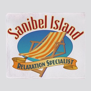 Sanibel Island Relax - Throw Blanket