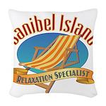 Sanibel Island Relax - Woven Throw Pillow
