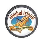 Sanibel Island Relax - Wall Clock