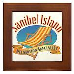 Sanibel Island Relax - Framed Tile
