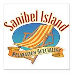 Sanibel Island Relax - Square Car Magnet 3