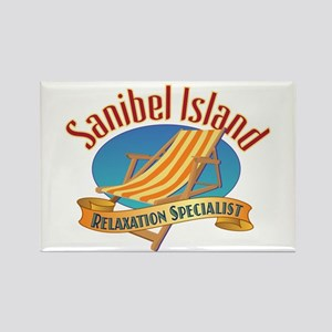 Sanibel Island Relax - Rectangle Magnet