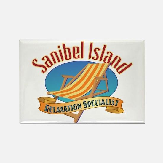 Sanibel Island Relax - Rectangle Magnet