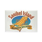 Sanibel Island Relax - Rectangle Magnet (10 pack)