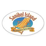 Sanibel Island Relax - Sticker (Oval 10 pk)
