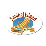 Sanibel Island Relax - 20x12 Oval Wall Decal