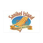 Sanibel Island Relax - 35x21 Wall Decal