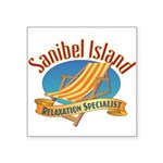 Sanibel Island Relax - Square Sticker 3
