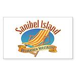 Sanibel Island Relax - Sticker (Rectangle 50 pk)