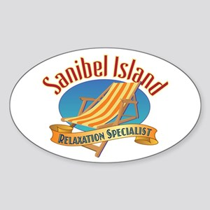 Sanibel Island Relax - Sticker (Oval)