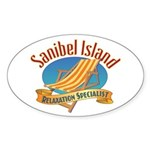 Sanibel Island Relax - Sticker (Oval)