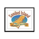 Sanibel Island Relax - Framed Panel Print