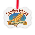 Sanibel Island Relax - Picture Ornament