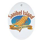 Sanibel Island Relax - Ornament (Oval)