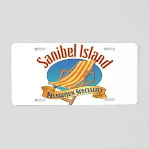 Sanibel Island Relax - Aluminum License Plate