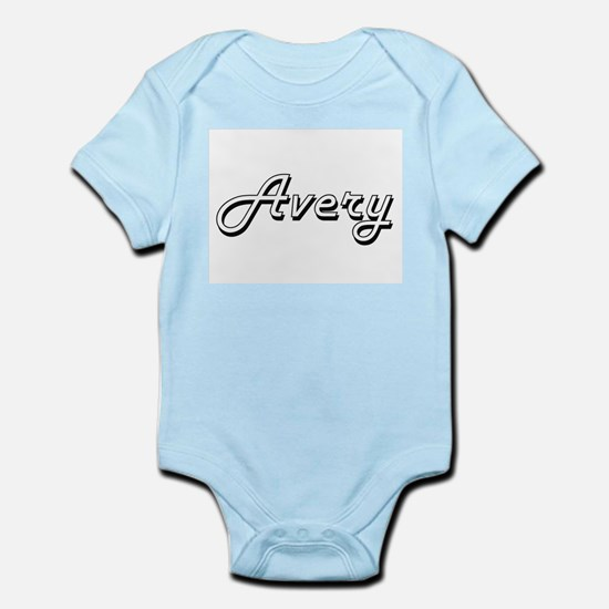 Avery Classic Retro Name Design Body Suit