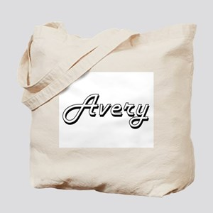 Avery Classic Retro Name Design Tote Bag