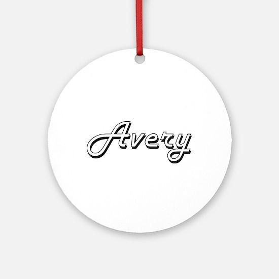 Avery Classic Retro Name Design Ornament (Round)