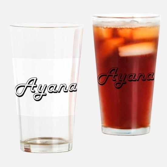 Ayana Classic Retro Name Design Drinking Glass