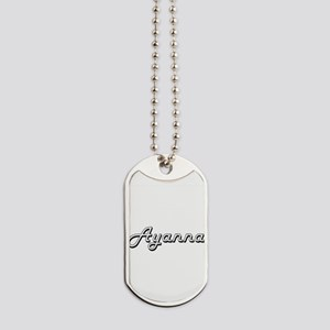 Ayanna Classic Retro Name Design Dog Tags