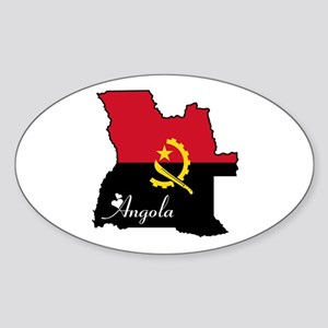 Cool Angola Oval Sticker